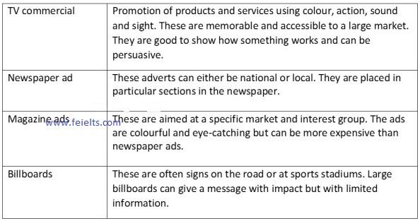 Advertisement vocab 1