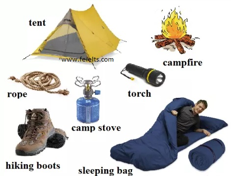 IELTS Vocabulary List Camping